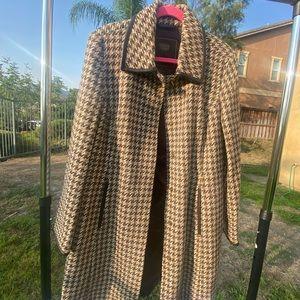 COACH plaid trench coat / long jacket - used